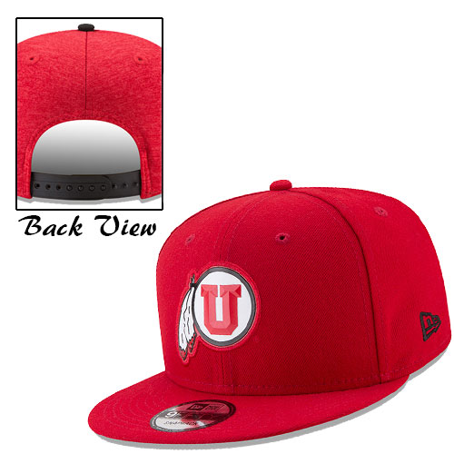 Cover Image For New Era Utah Athletic Logo Adjustable Red Hat