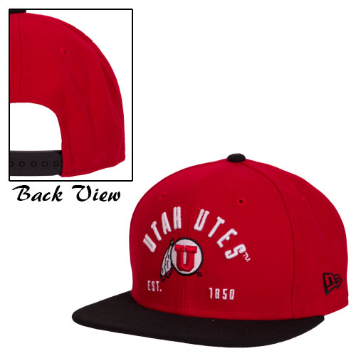 Cover Image For New Era Utah Utes Athletic Logo Est 1850 Adjustable Hat