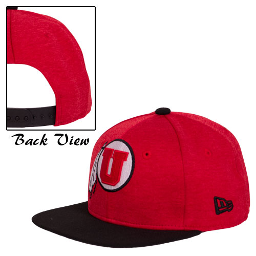 Image For New Era Red & Black adjustable Youth hat with Athletic logo