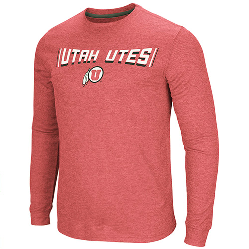 Image For Utah Utes Athletic Logo Waffle Knit Long Sleeve
