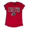 Image for Utah Utes Athletic Logo Girls Youth Tee