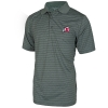 Image for Antigua Gray Striped Athletic Logo Polo