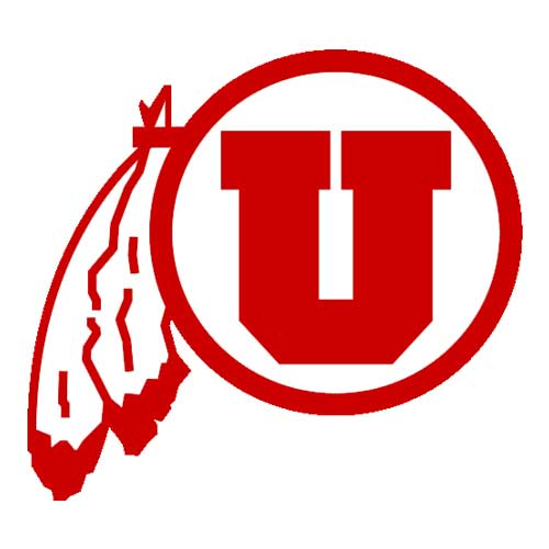 Image For Utah Utes Red Athletic Logo Large Wall Decal