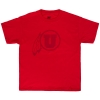 Image for MV Sport Red On Red Athletic Logo Youth T-Shirt