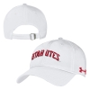 Image for Under Armour Utah Utes White Renegade Adjustable Hat