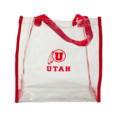 Cover Image For Athletic Logo Clear Plastic Tote