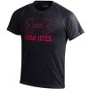 Image for Under Armour logo Utah Utes Black Youth T-Shirt