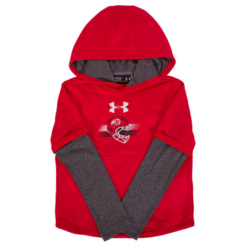 Cover Image For Under Armour Youth Football Helmet Hoodie