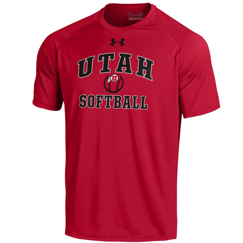 Image For Under Armour Athletic Logo Softball T-Shirt