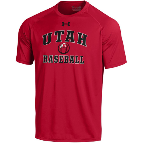 Image For Under Armour Athletic Logo Baseball T-Shirt