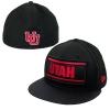 Image for New Era Utah Applique Patch Flat Brim Hat