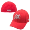 Image for New Era Red Fitted Grey Athletic Logo Hat