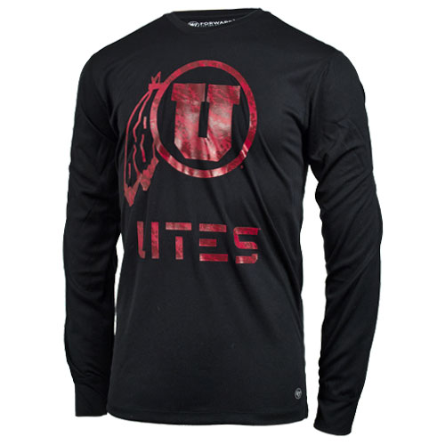 Cover Image For 47 Brand UTES Athletic logo All Black Men Long Sleeves