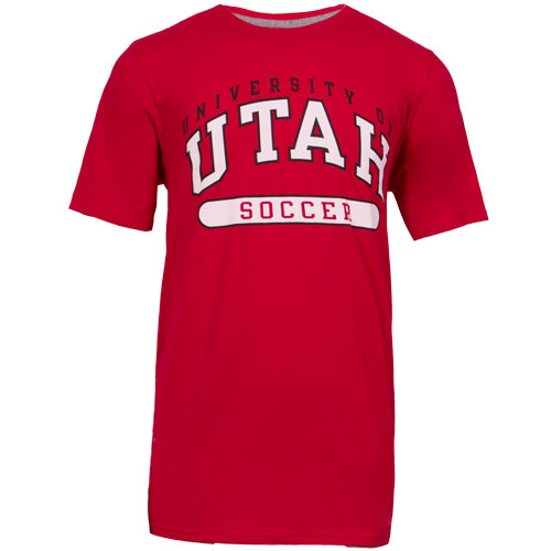 Image For Russell University of Utah Soccer Red Men T-shirt