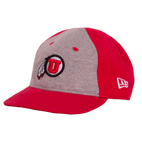 Cover Image For New Era Grey and Red colored Athletic logo toddler hat e3489497fa2