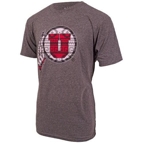 Cover Image For Ute Proud Athletic Logo Tribal Pattern T-Shirt