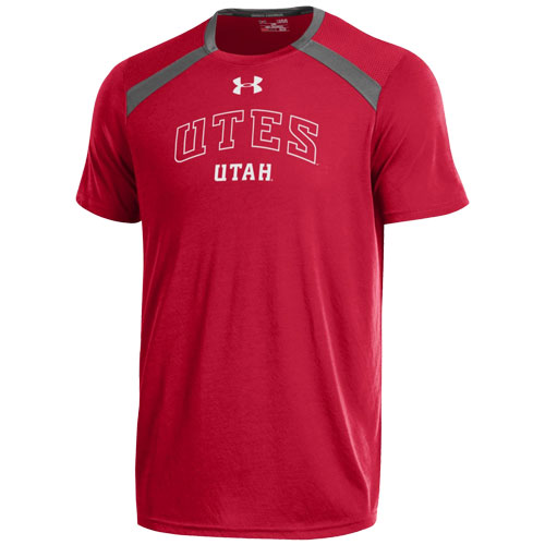 Image For Under Armour UTES UTAH Men Red T-shirt