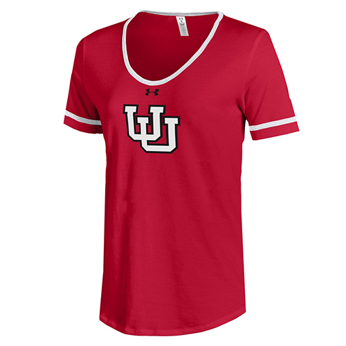 Image For Under Armour Women's Throwback Interlocking U T-shirt