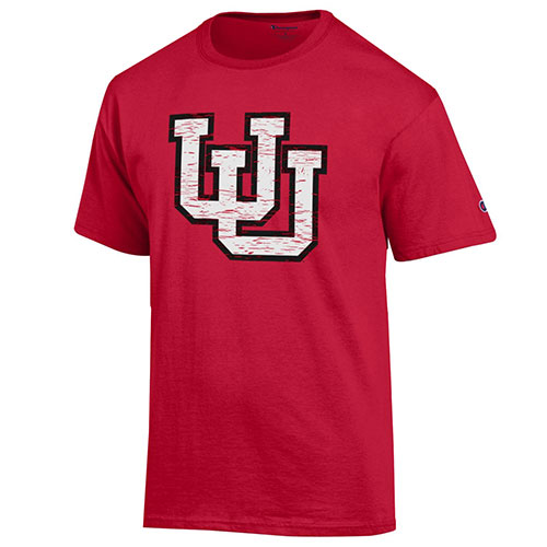 Cover Image For Champion Interlocking U Red Men's T-shirt