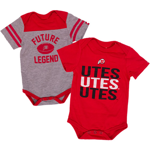 Image For Utah Utes 2-Pack Infant Onesie