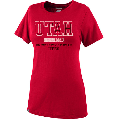 Image For Univeristy of Utah Utes JansPort Women's Relaxed Fit T-shirt