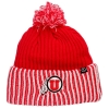 Image for Zephyr Athletic Logo Red White Striped Knitted Beanie
