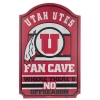 Image for Utah Utes Wooden Fan Cave Sign