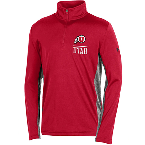 Image For Youth Under Armour Athletic Logo Utah Quarter Zip