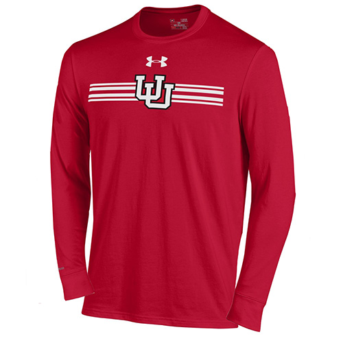 Cover Image For Under Armour  Striped Interlocking U Long Sleeve T-shirt