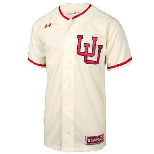 Image For Under Armour Utah Interlocking U Baseball Jersey