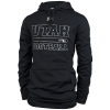 Image for Under Armour Utes Football Silver Font Hooded Sweatshirt