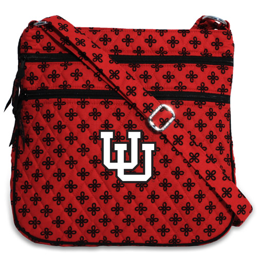 Image For Utah Utes Vera Bradley Interlocking U Crossbody Bag