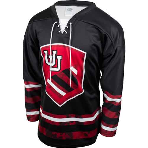 Image For Interlocking U Camo Hockey Jersey