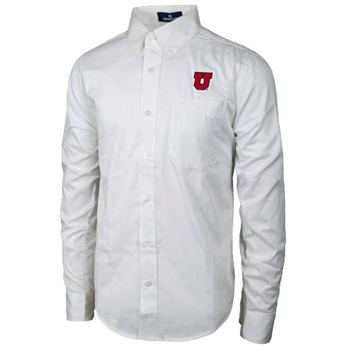 Image For Vansport Block U White Dress Shirt