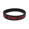 Image for Utah Utes Black Rubber Bracelet
