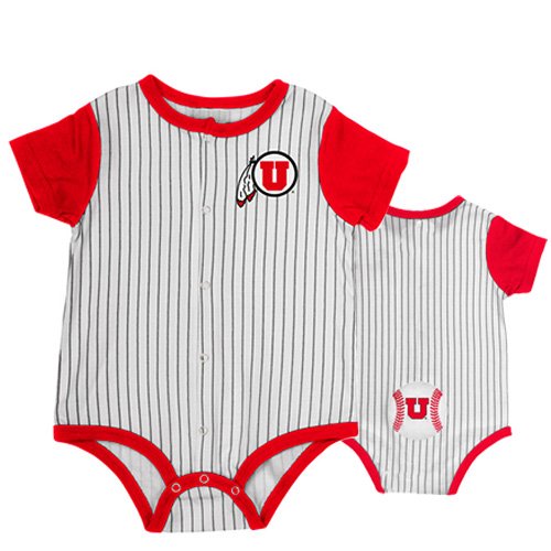 Image For Utah Utes Athletic Logo Colosseum Baseball Onesie