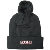 Image for Zephyr Utah Hockey Black Pom Pom Beanie