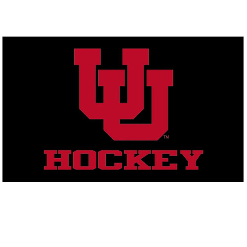 Image For Utah Hockey Interlocking U Black Flag