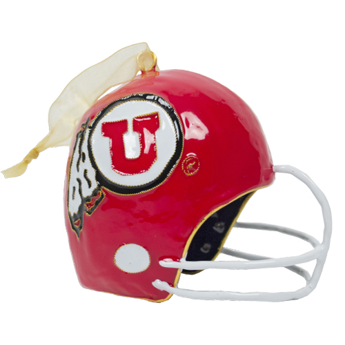Image For Hand Painted Athletic Logo Football Helmet Ornament