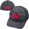 Image for Top of the World Athletic Logo Grey-Red Streaks Flex Fit Hat