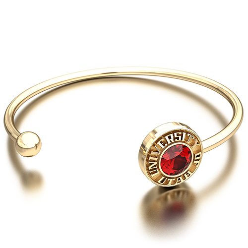 Image For University of Utah Block SarahChloe Cuff Bracelet