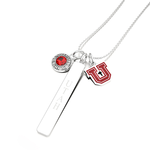 Image For University of Utah Block U SarahChloe Necklace