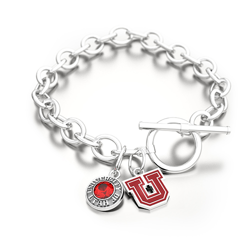 Image For Block U University of Utah SarahChloe Chain Link Bracelet