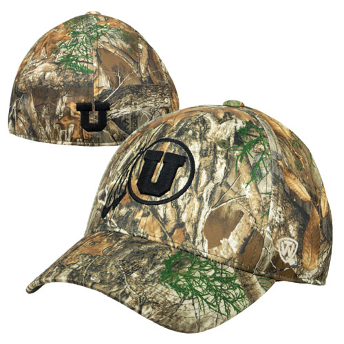 Image For Utah Utes Athletic Logo Flex Fit Camouflage Hat