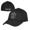 Image for Utah Utes White Outline Interlocking U Flex Fit Hat