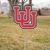 Image for Utah Utes Interlocking U Yard Sign