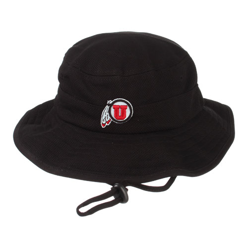 c342034cae8 Image For Utah Utes Athletic Logo Black Bucket Hat