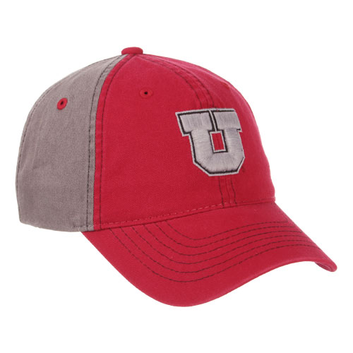Cover Image For Utah Utes Grey Block U Adjustable Hat