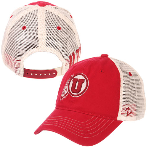 Image For Utes Athletic Logo Mesh Adjustable Hat