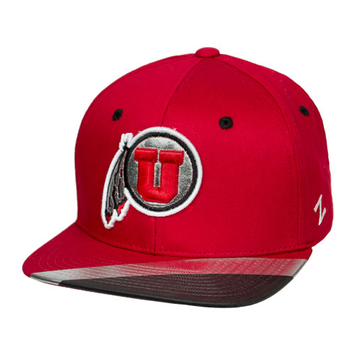 Image For Utah Utes Metallic Athletic Logo Youth Snapback Hat